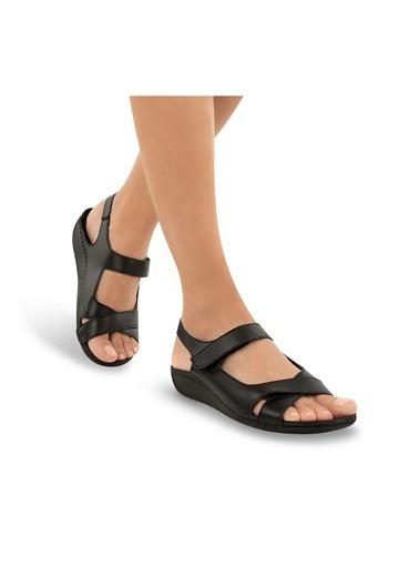 Muya Capella Anatomik Jel Destekli Kadın Sandalet Siyah